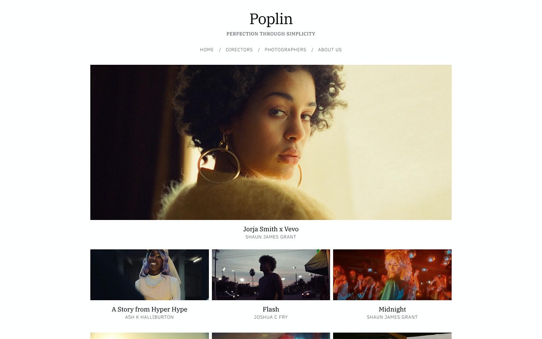 Fabrik agency Poplin theme