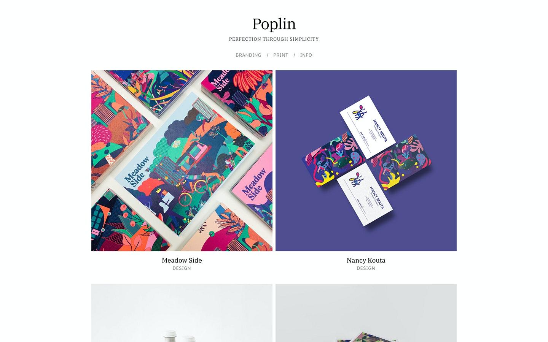 Fabrik designer Poplin theme