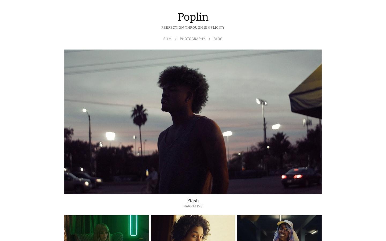 Fabrik filmmaker Poplin theme