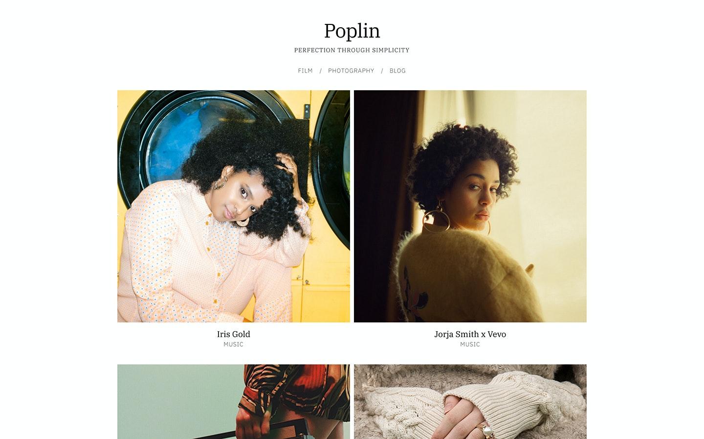 Fabrik photographer Poplin theme