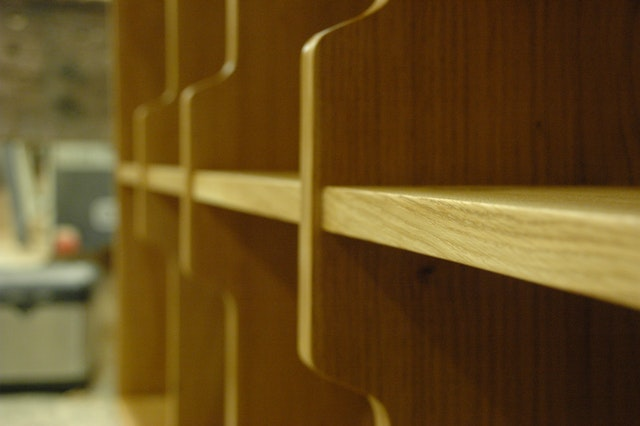 Oak Record Shelves