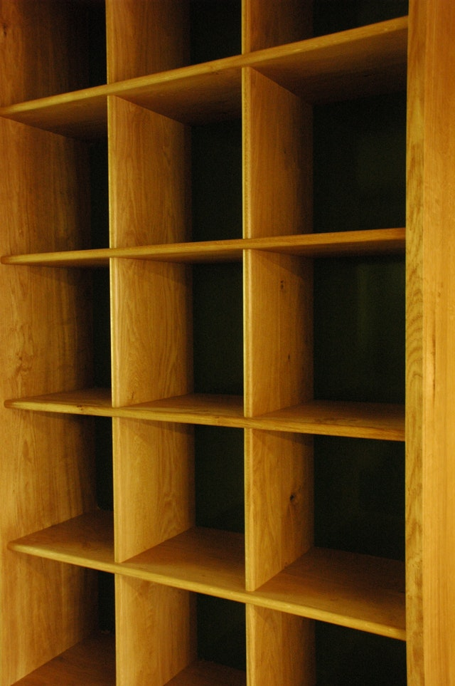 Oak Shelving Cabinet