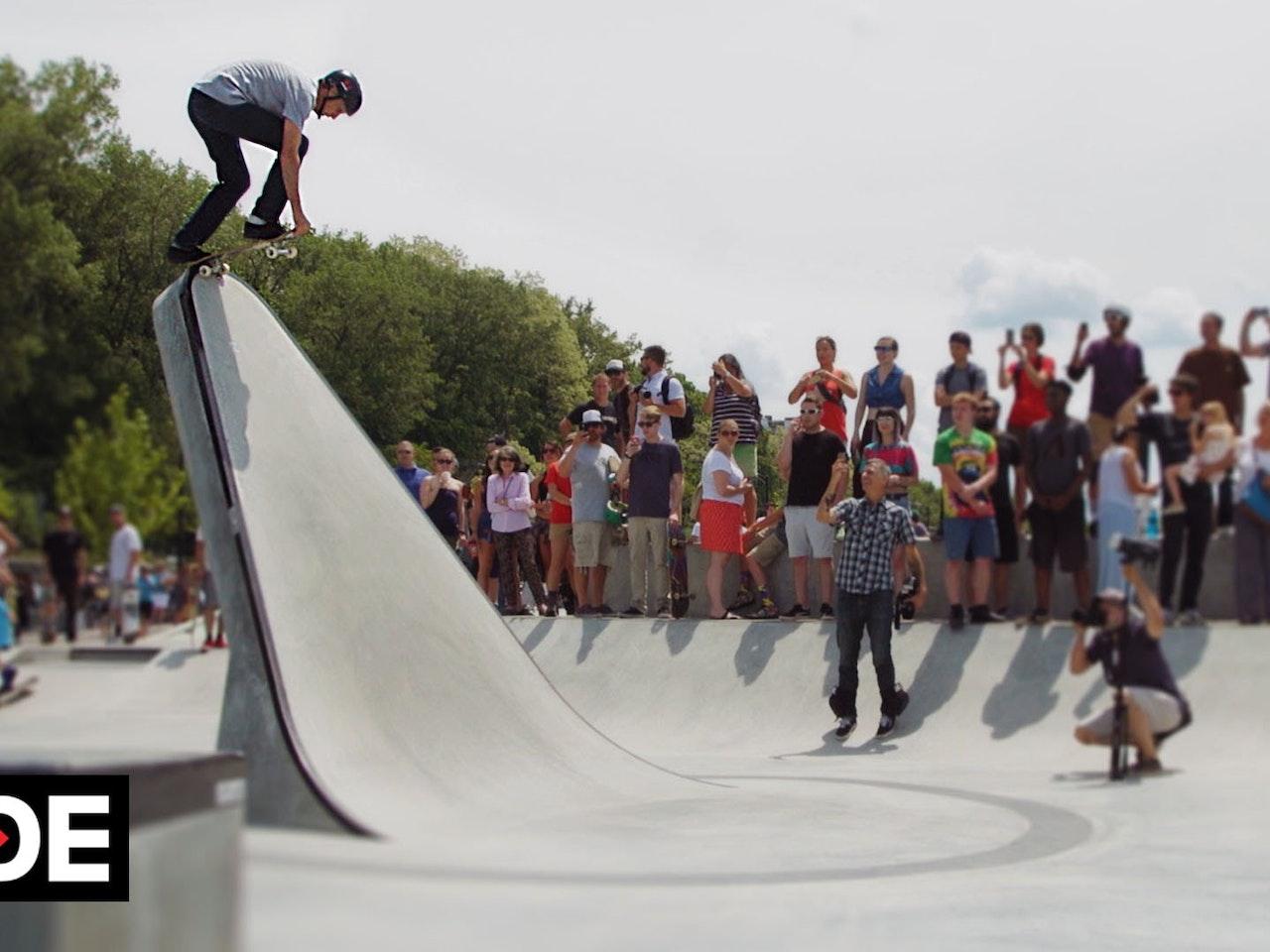 Tony Hawk Celebrates Burlington's A-Dog Skatepark With Surprise Visit