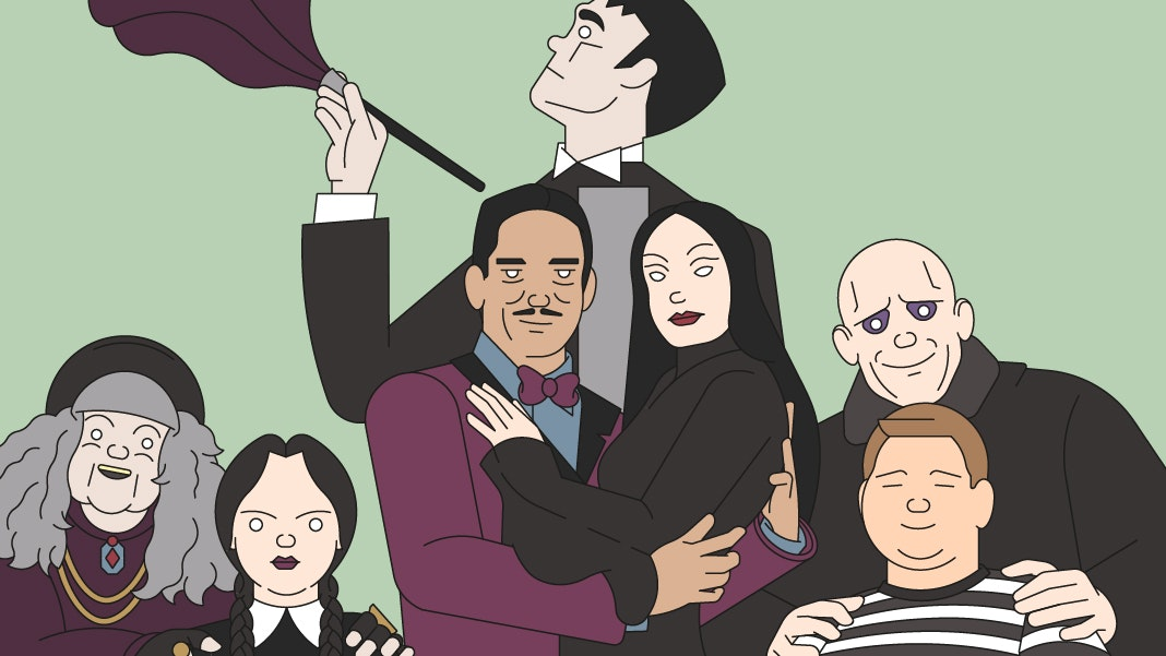 BloodBros. illustration - Addams Family