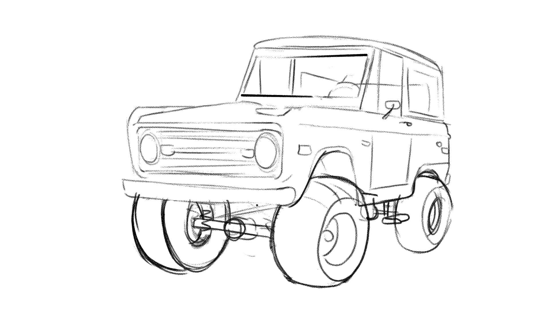 Emile - 1 Bronco sketch
