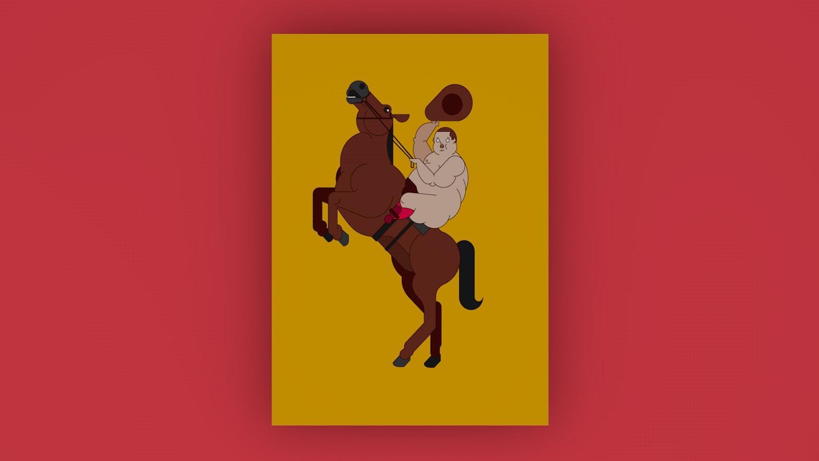 BloodBros. illustration - cowboy nude