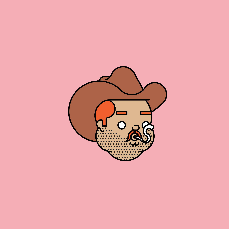 BloodBros. Illustration - 39_Pin_cowboy