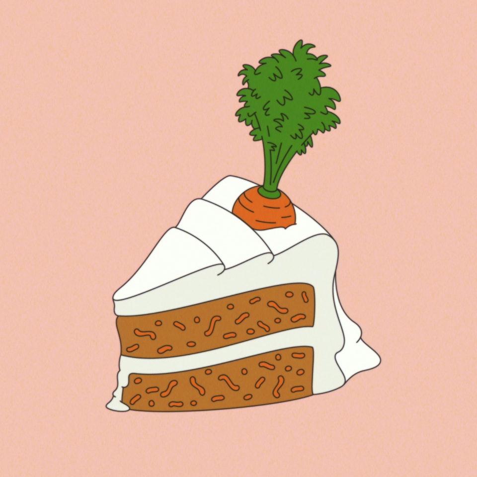 Food Sampler cake slice