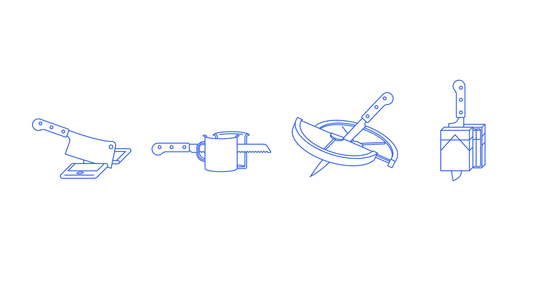 BloodBros. illustration - 58_Icon set knives-01