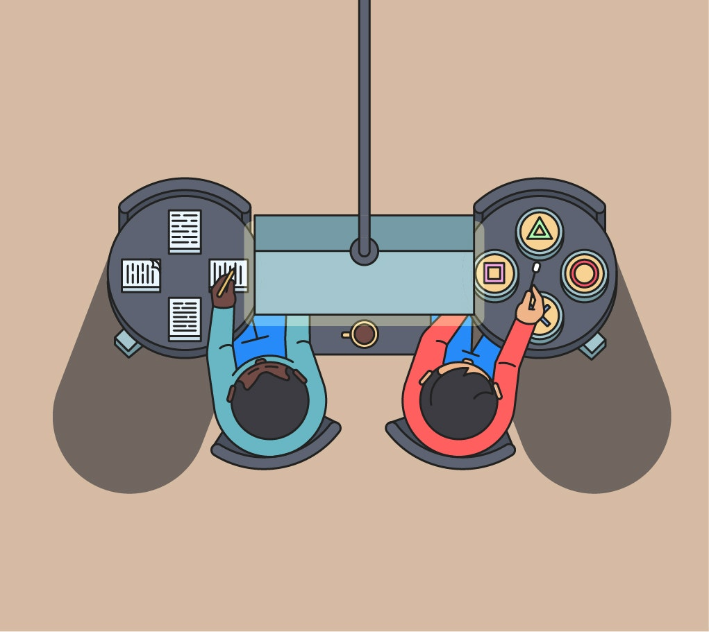 BloodBros. Illustration - ideamustdie_Controllerv1