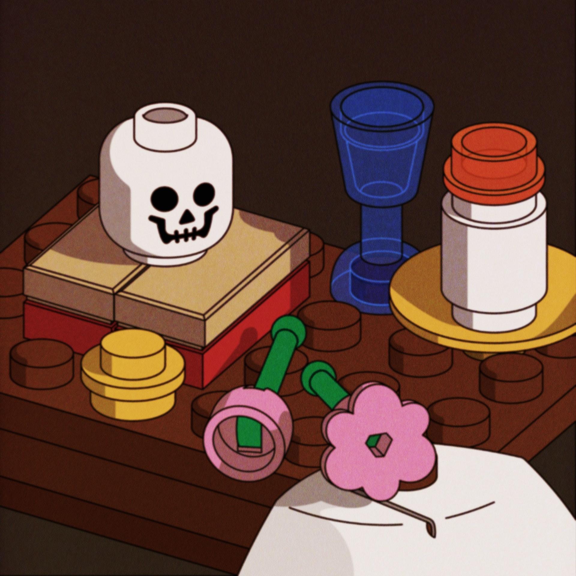 BloodBros. Illustration - Still life skull_00000