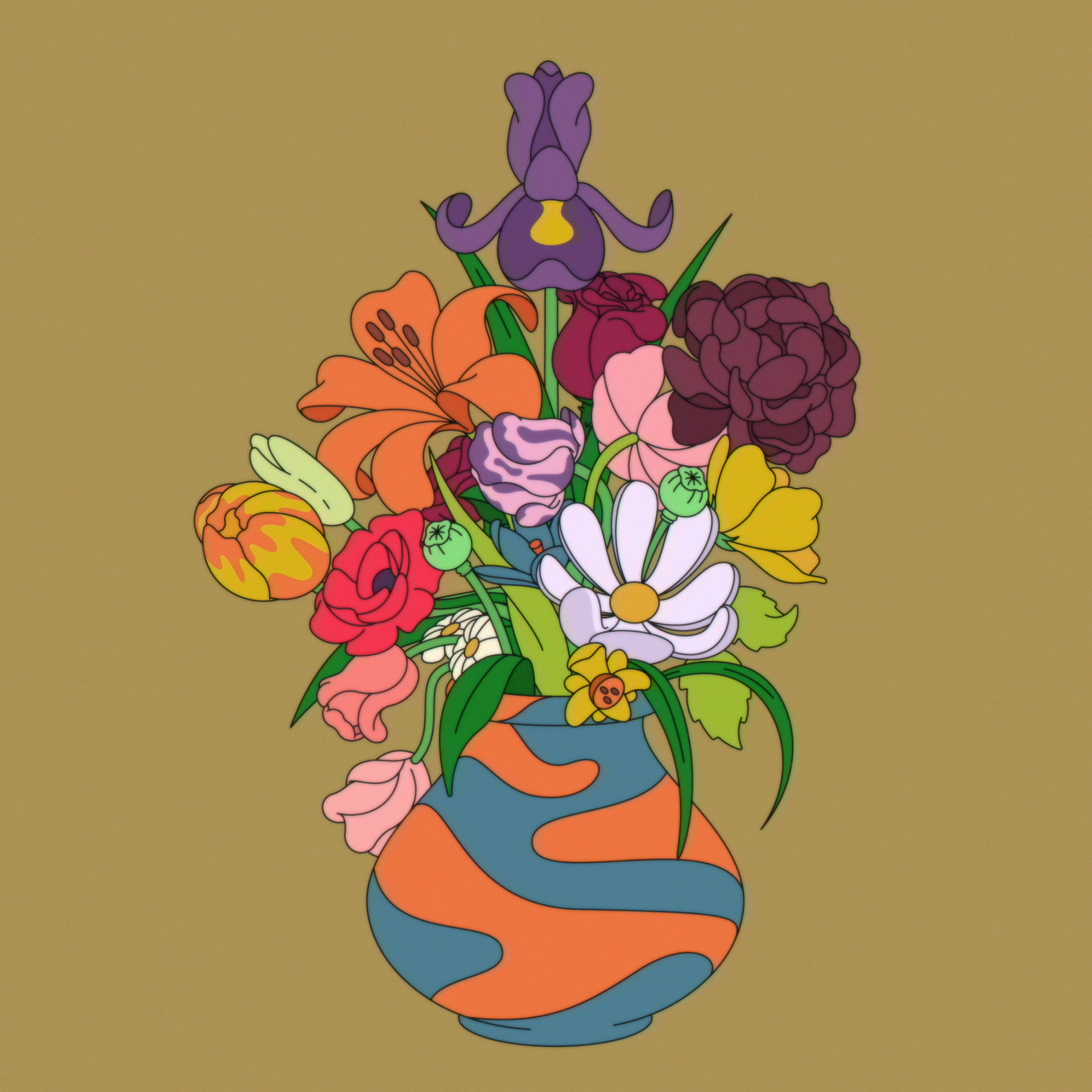 Emile - srsly flowers retro-lores