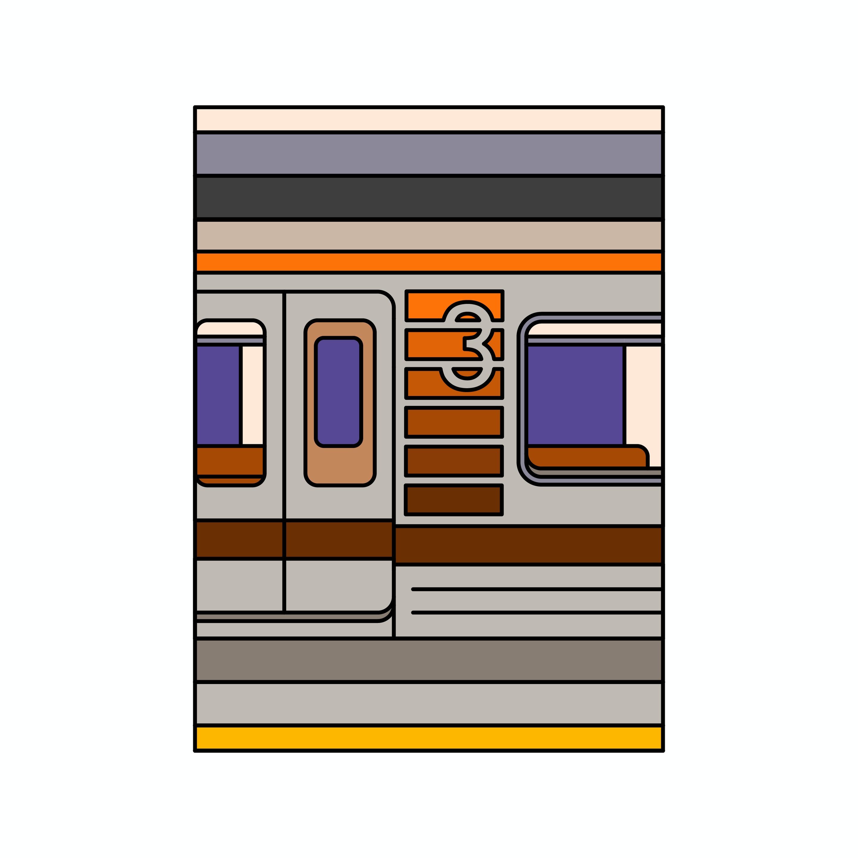 BloodBros. Illustration - Sakaisuji Line-