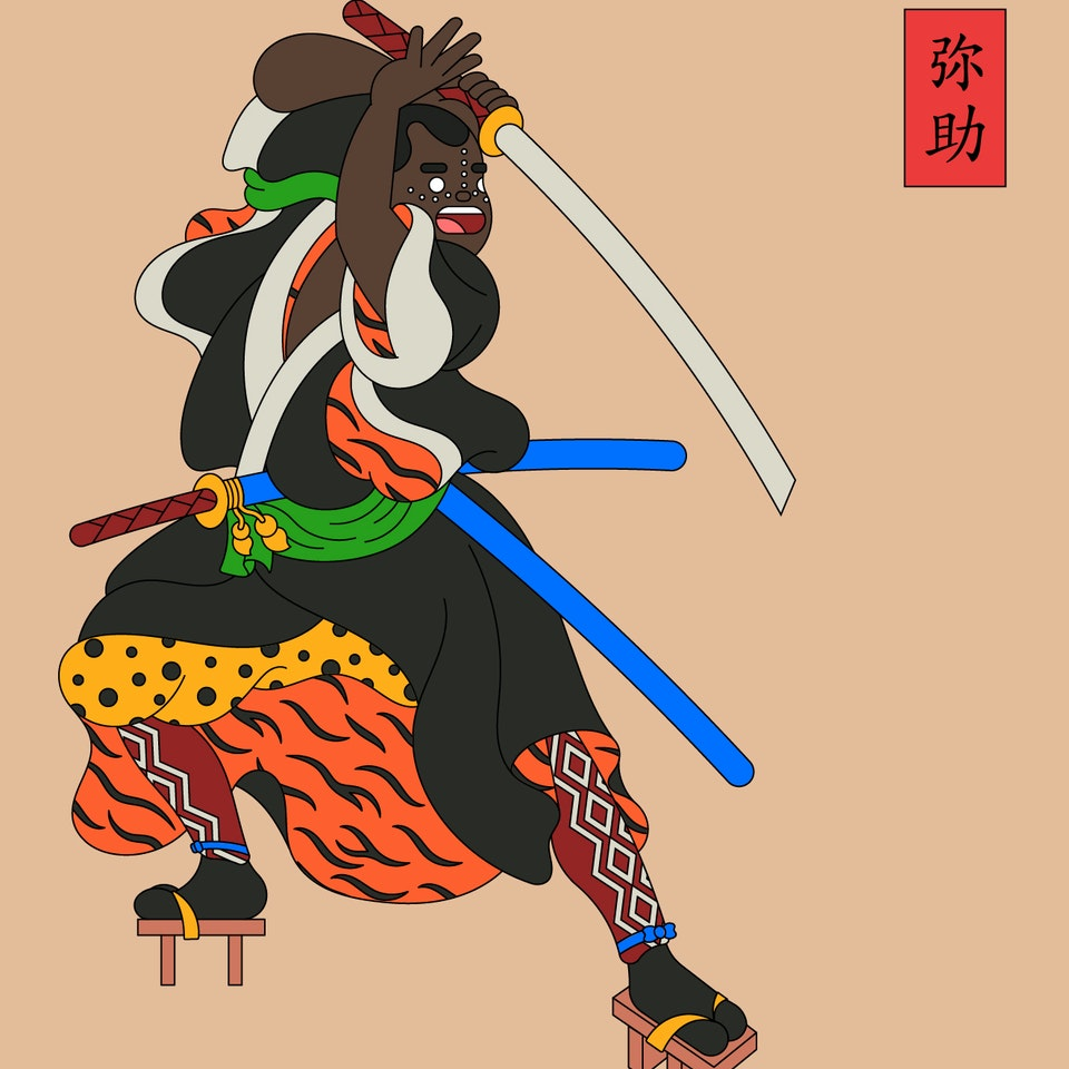 BloodBros. Illustration - Yasuke, The Black Samurai