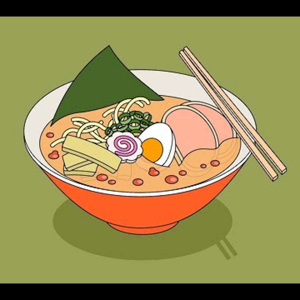 Food Sampler Ramen illustration Ai for iPad