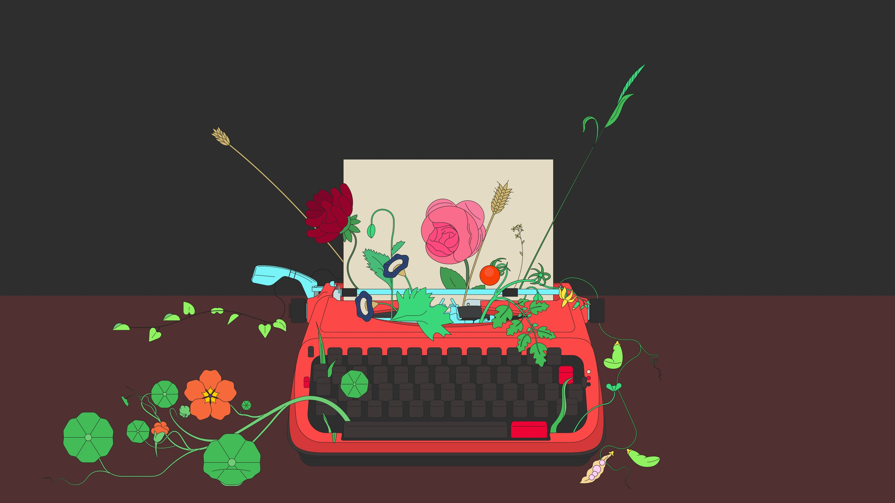 BloodBros. Illustration - 20_Typewriter