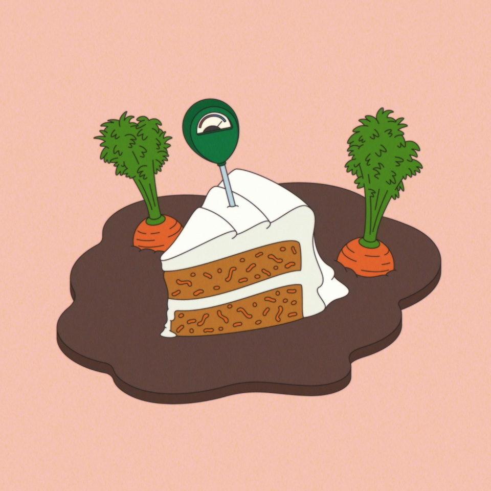 Food Sampler cake moist