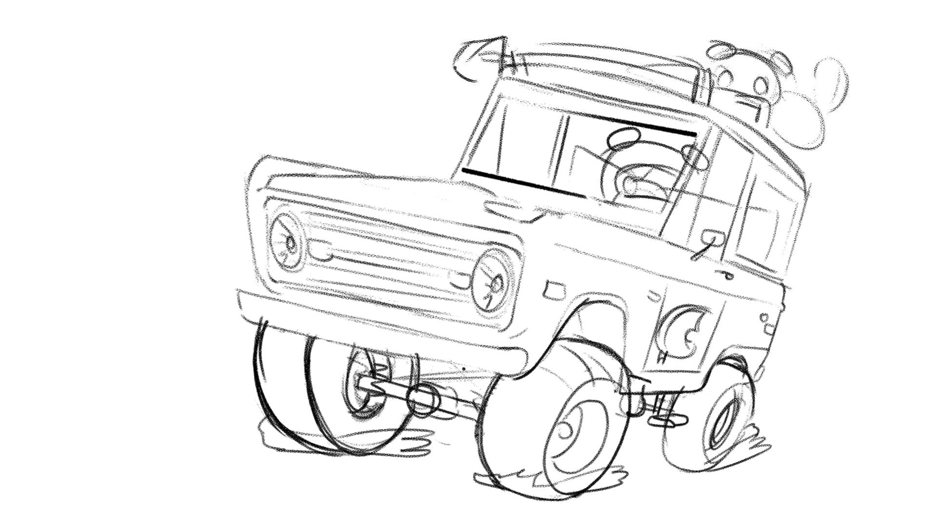 Emile - 2 Bronco angle sketch