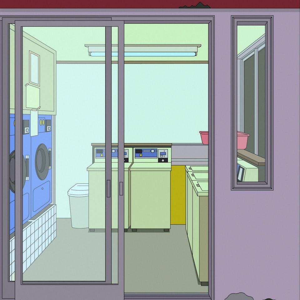 BloodBros. Illustration - Laundromat, Kamata