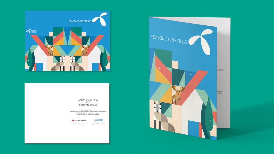 Telenor Group - Telenor Christmas card illustration