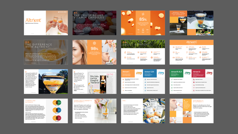 Abundance & Health - Powerpoint sales template / Designers: Jason Tse, David Davies