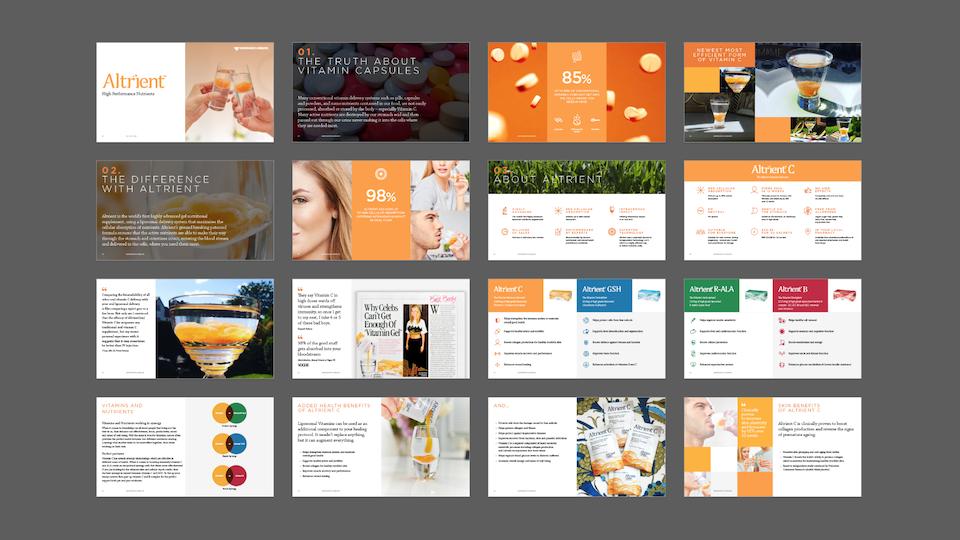 Abundance & Health - Powerpoint sales template / Designers: Jason Tse, David Davies