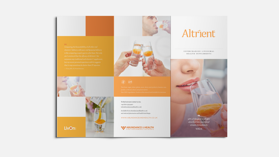Abundance & Health - Altrient information brochure / Designers: Jason Tse, David Davies