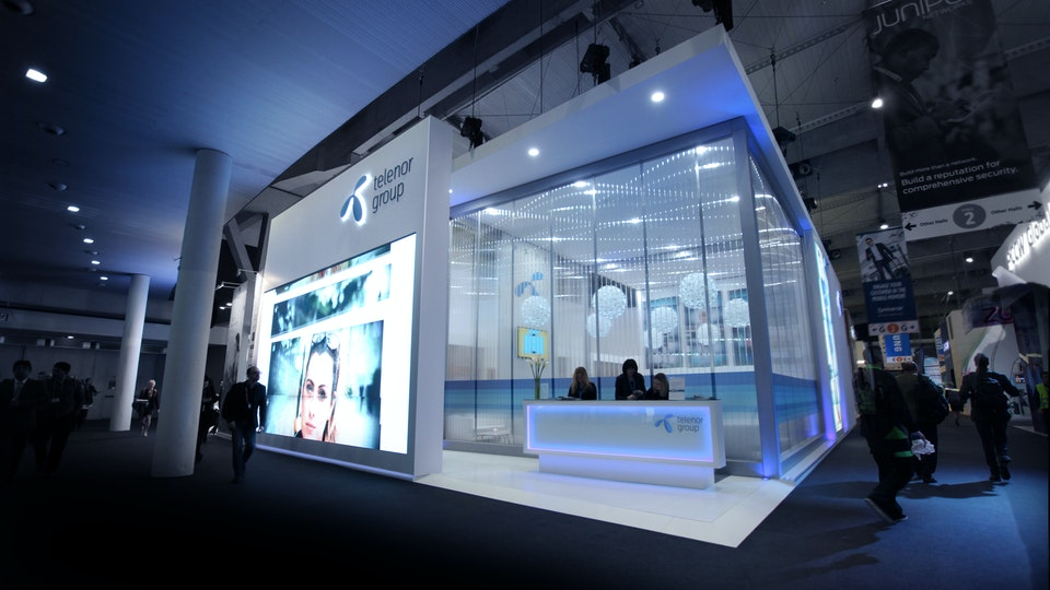 Telenor Group - Telenor MWC exhibition stand
