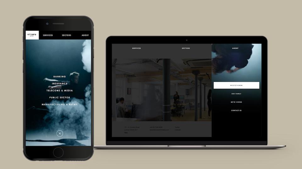 NTT Data Digital - Mobile and desktop navigation