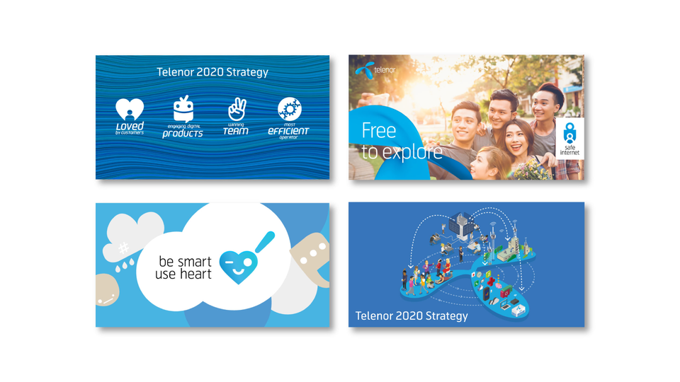 Telenor Group - Brand centre banners (internal) / Designers: Jason Tse, Oleg Savchuk