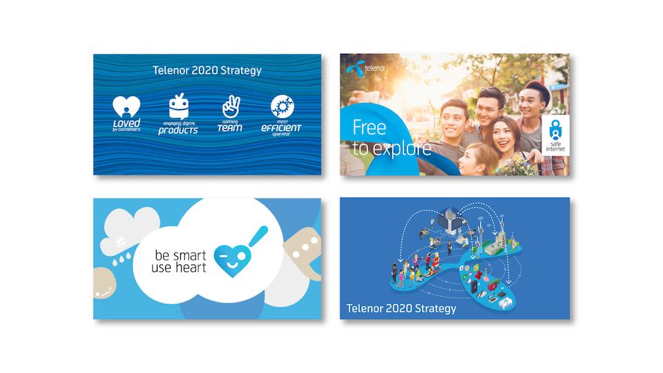 Telenor Group - Brand centre banners (internal) / Designers: Jason Tse, Oleg Savchuk