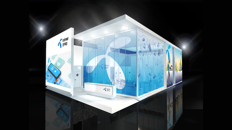 Telenor Group - Early exploration for exhibition stand style