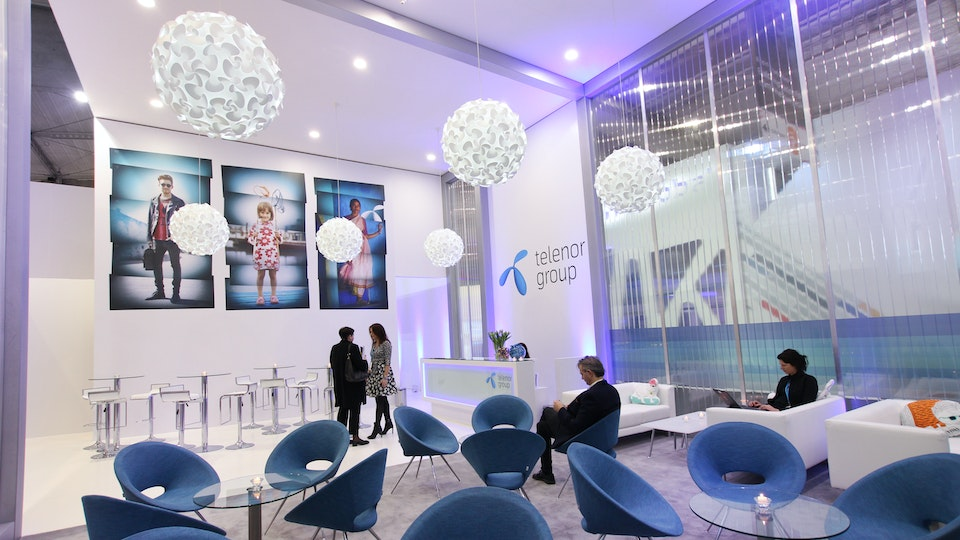 Telenor Group - Telenor MWC lobby