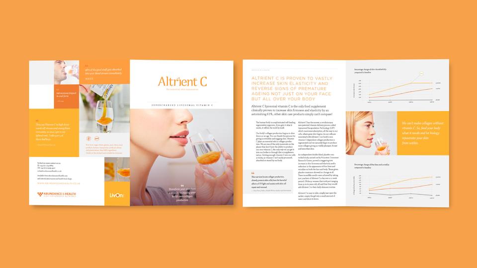 Abundance & Health - Altrient C A5 booklet / Designers: Jason Tse, David Davies