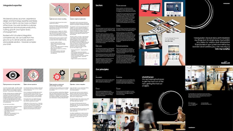 NTT Data Digital - A1 Brochure / Designers: Jason Tse, David Davies