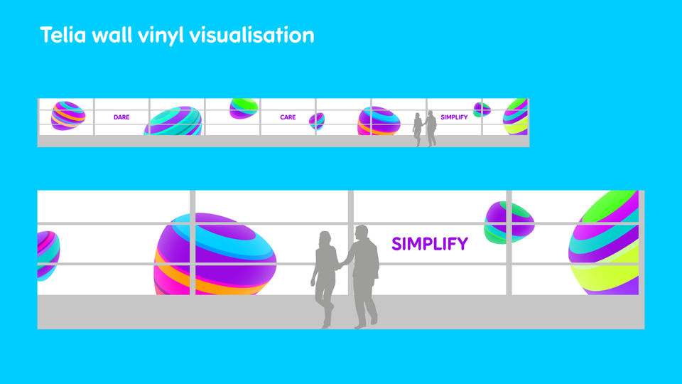 Telia Company - Office vinyl visualisation