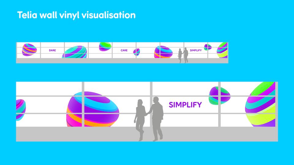 Telia Company - Office vinyl visualisation