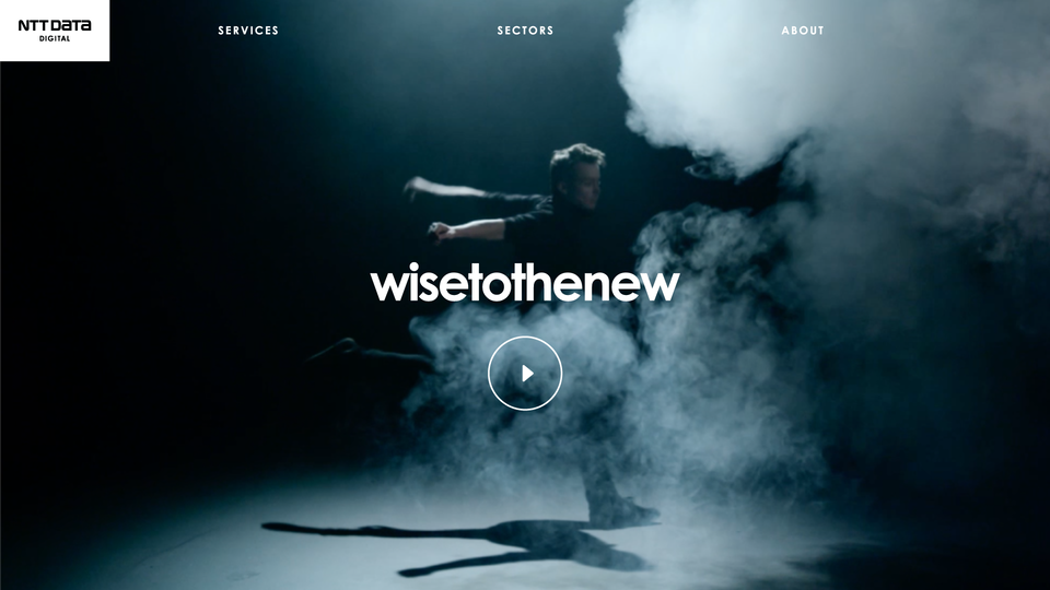 NTT Data Digital - Wisetothenew homepage