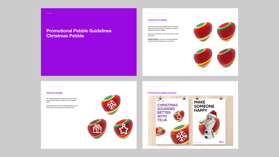Telia Company - Christmas promotional pebble guidelines