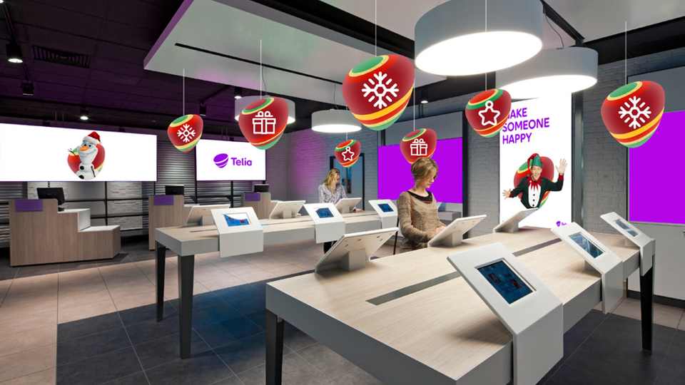 Telia Company - Store visualisation with Christmas pebbles