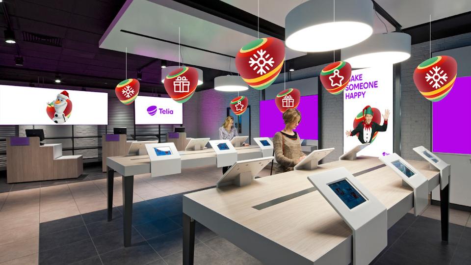 Telia Company - Store visualisation with Christmas pebbles