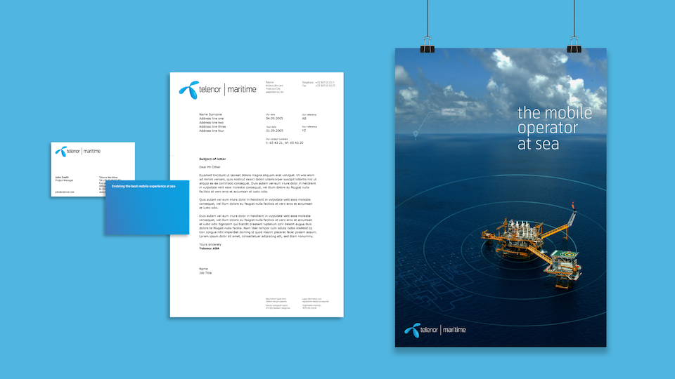 Telenor Group - Telenor Maritime - leading global mobile operator at sea
