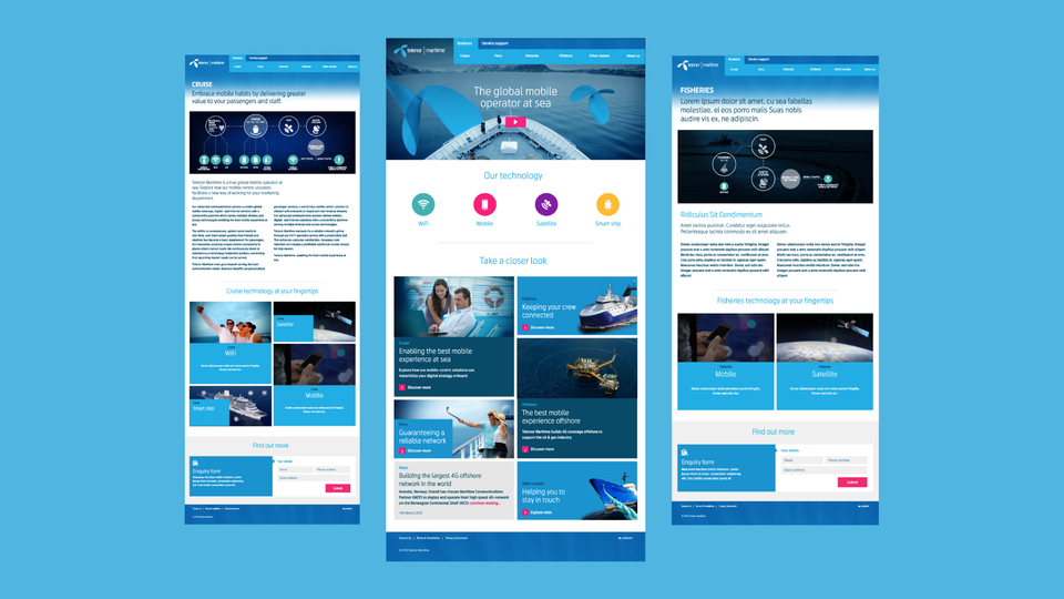 Telenor Group - Telenor Maritime - Landing pages