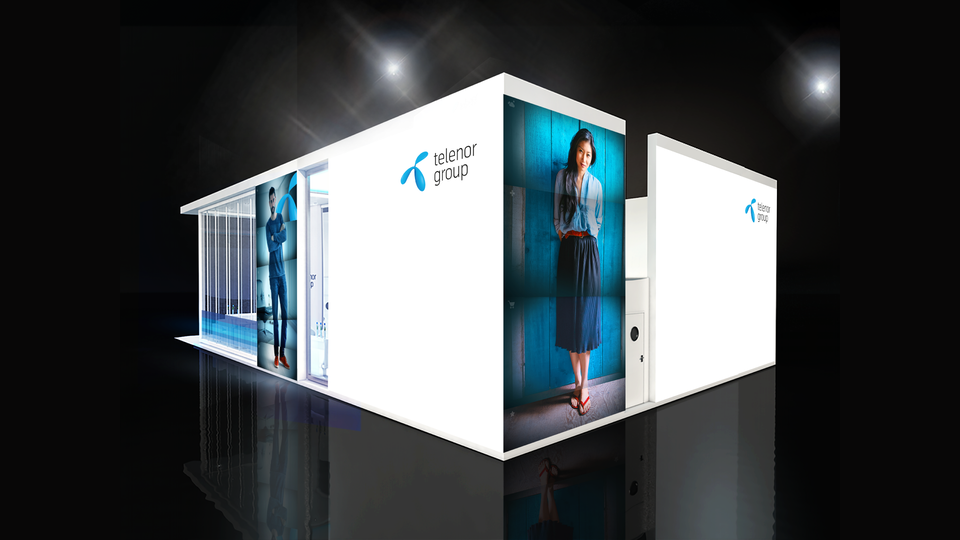Telenor Group - Mockup of exhibition stand