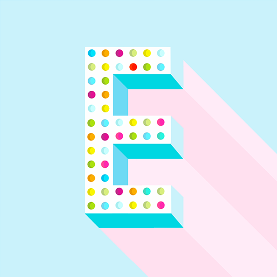 36 Days of Type type_e