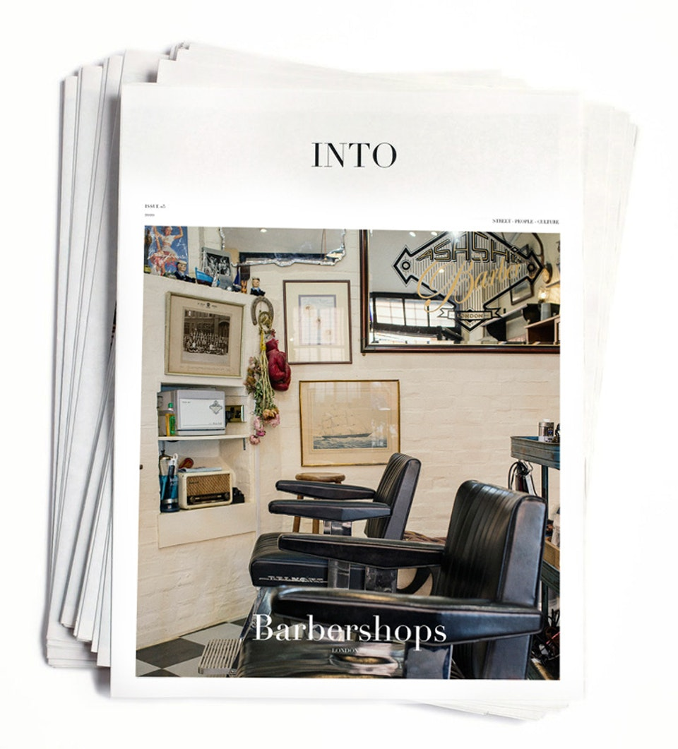 INTO magazine. edition 05, Barbershops. INTO magazine. edition 05, London barbers.