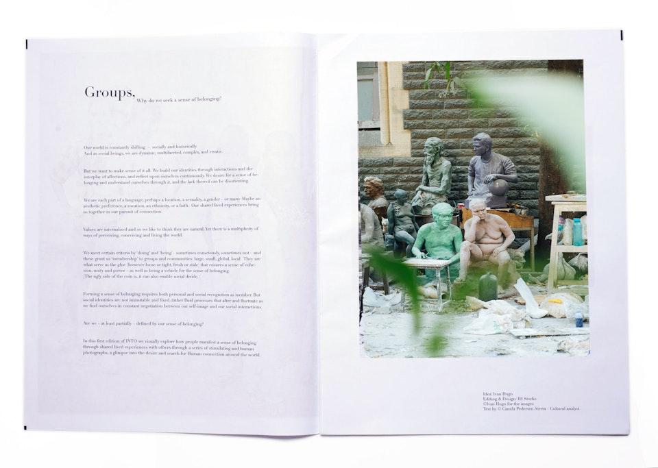 INTO Magazine. edition 01 Why do we seek a sense of belonging? INTO1_pensador