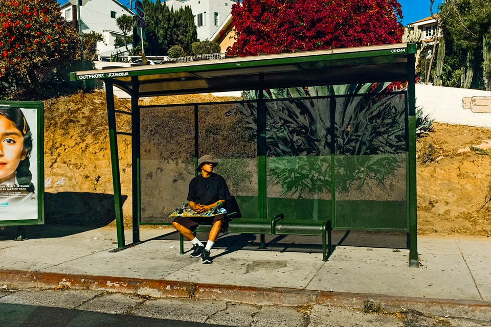 Junk Food Clothing, L.A. Skaterinthebusstop_adjustedOK