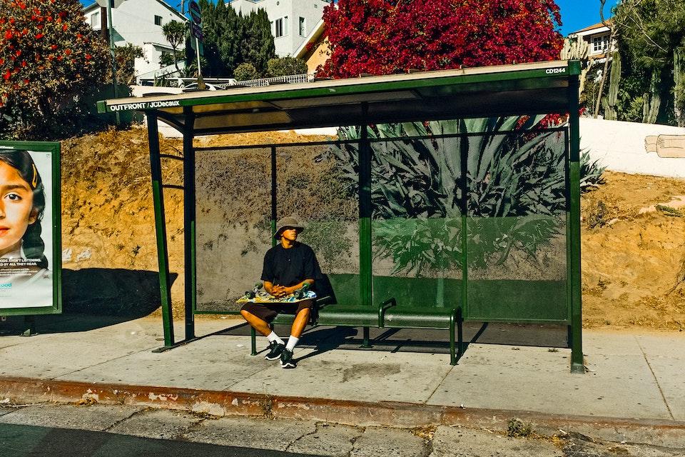Junk Food Clothing. We ventured into the streets of Los Angeles. Skaterinthebusstop_adjustedOK