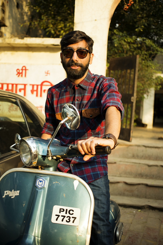 Levi's Portraits of India. India_vespa